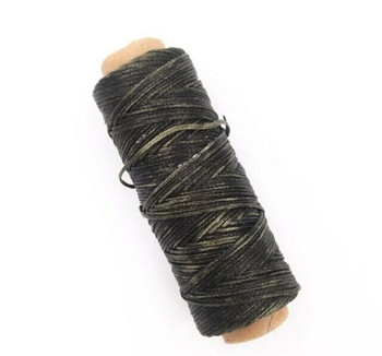 1.5mm Waxed Nylon Cord   Army Green   Sold By 50m Spool   NCAG15