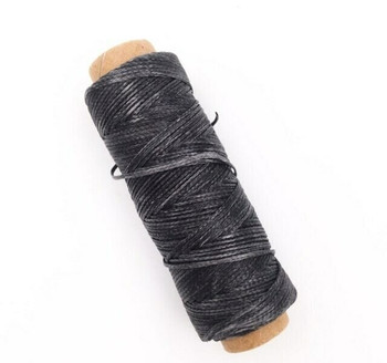 1.5mm Waxed Nylon Cord | Charcoal Gray | Sold By 50m Spool | NCCG15