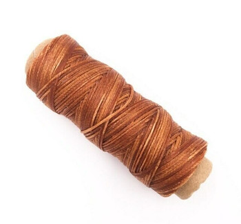 2mm Waxed Nylon Cord | Fox Brown | Sold By 50m Spool | NCFB20