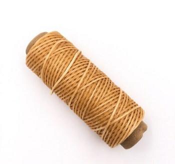 1.5mm Waxed Nylon Cord   Honey Brown   Sold By 50m Spool   NCHB15