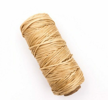 2mm Waxed Nylon Cord | Golden Tan | Sold By 50m Spool | NCGT20