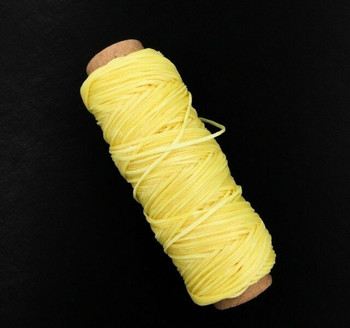 1.5mm Waxed Nylon Cord | Butter Yellow | Sold By 50m Spool | NCBY15