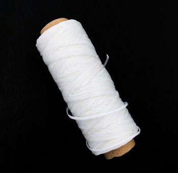1.5mm Waxed Nylon Cord | White | Sold By 50m Spool | NCWH15