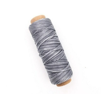 1.5mm Waxed Nylon Cord | Fog Gray | Sold By 50m Spool | NCFG15