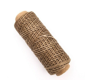 1.5mm Waxed Nylon Cord | Saddle Brown | Sold By 50m Spool | NCSB15