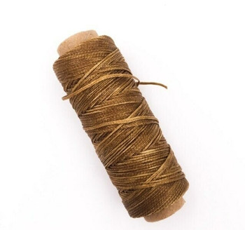 1.5mm Waxed Nylon Cord   Gingerbread Brown   Sold By 50m Spool   NCGB15