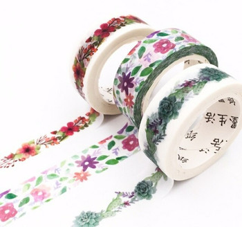 Floral Washi Tape   15mm x 7m   6970852370245