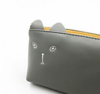 Grey Cat Pencil Case | GCPC01