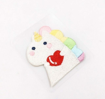 """Holding Heart"" Iron-on Embroidery Patch 