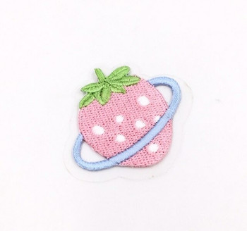 Iron-on Embroidery Patch | Strawberry Saturn | EP024