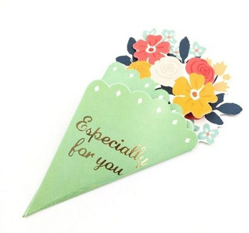 Bouquet Greeting Card | Green | GC004