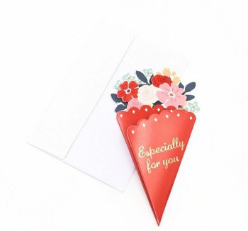 Bouquet Greeting Card | Red | GC005