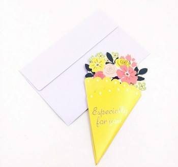 Bouquet Greeting Card   Yellow   GC006