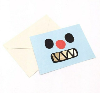 """""""Pleasure of Ordinary Days"""" Post Card Greeting Card   Blue Face   GC010"""