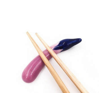Eggplant Chopstick Rest | CR13