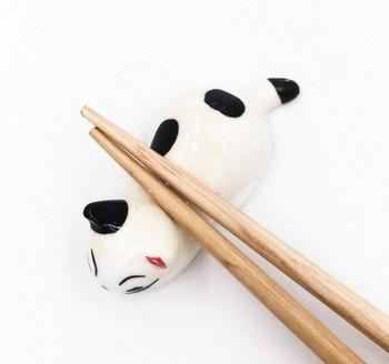 White Cat Chopstick Rest | CR16