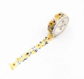 InFeelMe Washi Tape | Yellow Flowers | 15mm x 7m | 6921345281050