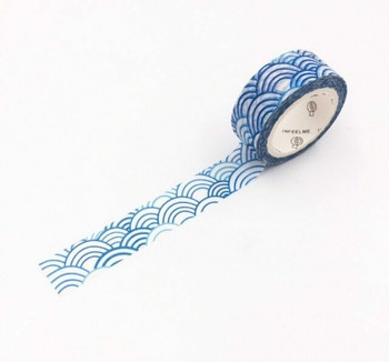 InFeelMe Washi Tape | Blue Clouds | 15mm x 7m | 6921345283559