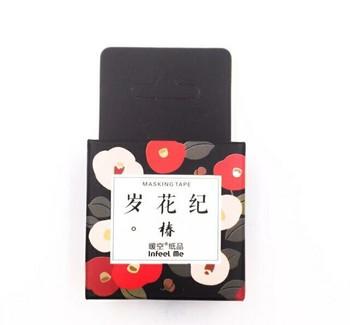 InFeelMe Washi Tape | Dark Flowers | 15mm x 7m | 6921345281111