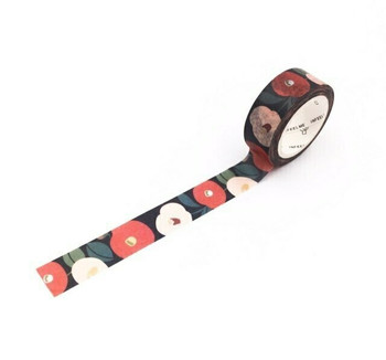 InFeelMe Washi Tape | Dark Flowers | 15mm x 7m | 6921345281111