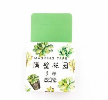 InFeelMe Washi Tape | Succulents | 15mm x 7m | 6921345281234