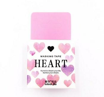 InFeelMe Washi Tape | Hearts | 15mm x 7m | 6921345282248
