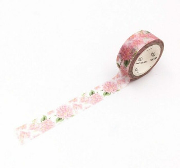 InFeelMe Washi Tape | Pink Floral | 15mm x 7m | 6921345281098