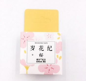 InFeelMe Washi Tape | Pink Blossoms | 15mm x 7m | 6921345281067