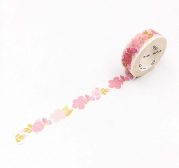 InFeelMe Washi Tape | Pink Blossoms | 15mm x 7m | 6921345281067