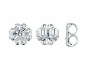 "Friction Ear Nut | 925 Sterling silver 7mm(0.28"") Medium-Weight | Sold By 50 Pcs | Bulk Prc Avlb| 690521/50EA"