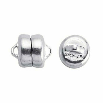Brass Silver-Plated Mag-Lok Button Magnetic Clasps 7.8mm   Sold by 12 Pcs   Bulk Price Avlb   61005212/12EA