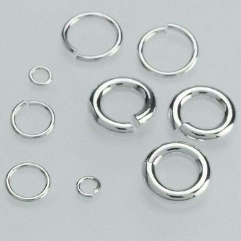 Sterling Silver 22ga Round Jump Ring | 6.2mm OD | 5mm ID | Bulk Prc Avlb | Sold by 50 Pcs | 695067/50EA