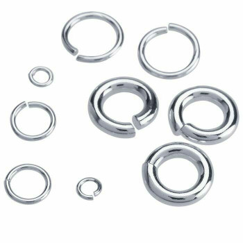 Sterling Silver 18ga Round Jump Ring | 6mm OD | 4mm ID | Bulk Prc Avlb | Sold by 100 Pcs | 924517/20EA