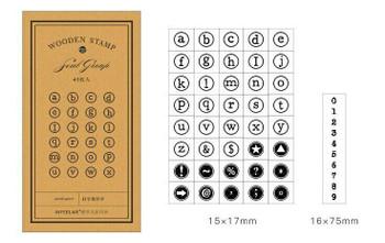 Infeel.me Alphabet Letter Typewriter Stamp Set of 41 | 6921345249913