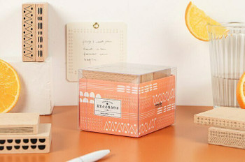 Infeel.me Journal Stamp with Wooden Handle | Decoration Set of 6 | 6921345244734