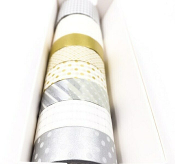 Silver & Gold Washi Tape Set of 8 | 6928891224838