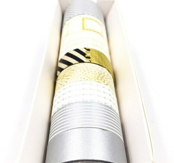 Silver & Gold Washi Tape Set of 8   6928891224845