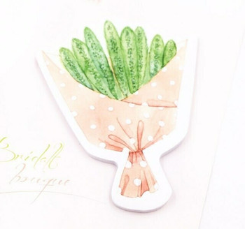 Candy Poetry Sticky Notes   Green Grass Bouquet   SN013