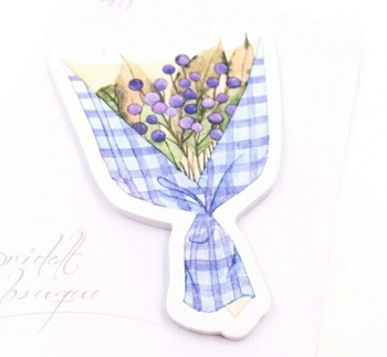 Candy Poetry Sticky Notes   Blue Berries Bouquet   SN014