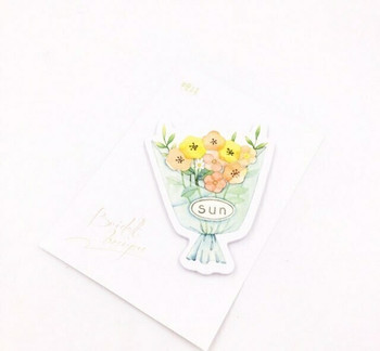 Candy Poetry Sticky Notes   Orange Flower Bouquet   SN015