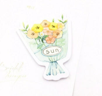 Candy Poetry Sticky Notes | Orange Flower Bouquet | SN015