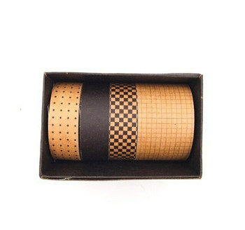 Black Paper Washi Tape Set of 4 | 6928891237692
