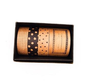 Black Paper Washi Tape Set of 4 | 6928891237678
