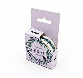 THEMO Washi Tape   Purple Greenery   15mm x 7m   6970852370245-PG
