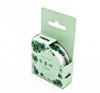 THEMO Washi Tape   Lucky Clovers   15mm x 7m   6970852370245-LC