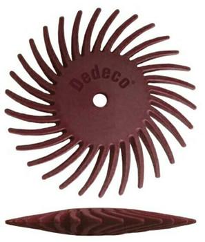 Sunburst 7/8'' Knife-Edge   Red 220 Grit    Sold by Each   BRS-640.50