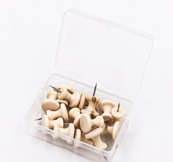 Large Wooden Push Pins | 14mm | Box of 15 | H198214