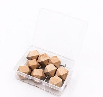 Wooden Gem Push Pins | Box of 9 | H198216