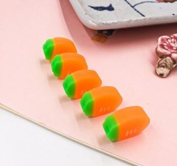 Set of 5 Mini Carrot Erasers | H200912