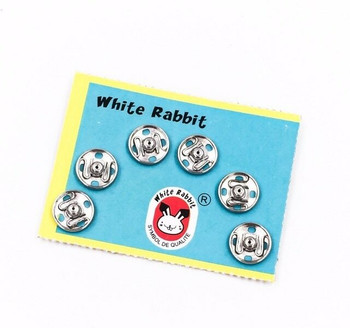 White Rabbit Silver Sew-On Snaps | 6-Pair Pack | H20201154